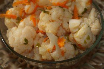 Вкусная хрустящая цветная капуста по-корейски